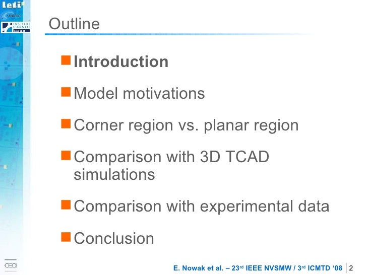 Outline <ul><li>Introduction </li></ul><ul><li>Model motivations </li></ul><ul><li>Corner region vs. planar region </li></...