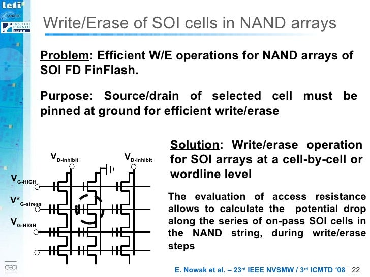 The evaluation of access resistance allows to calculate the  potential drop along the series of on-pass SOI cells in the N...