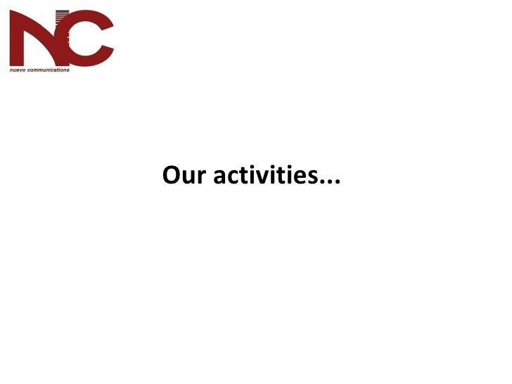 Our activities ...