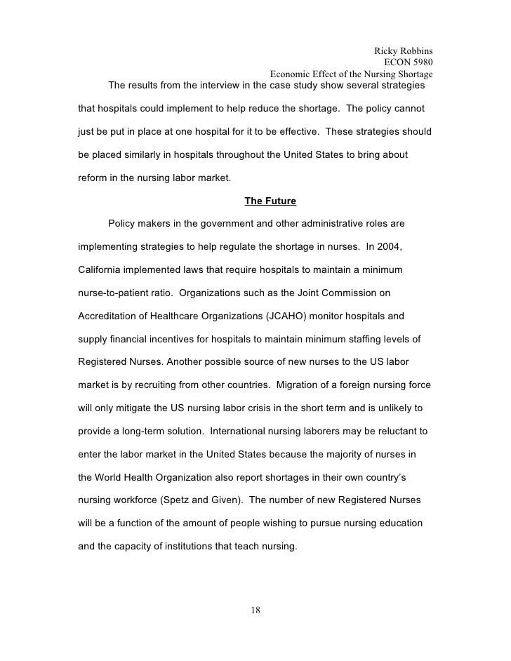 annotated bibliography on the shortage of nurses The nursing shortage: an annotated bibliography by caitlyn hunt english 111-1510 the shortage of nurses has reached a crisis point for health care services.