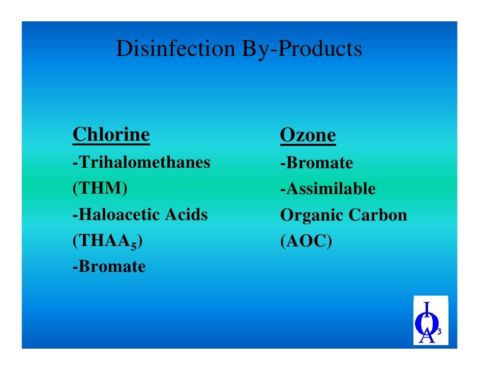 Bromate Formation In Drinking Water