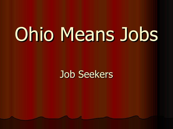 Ohio Means Jobs Job Seekers