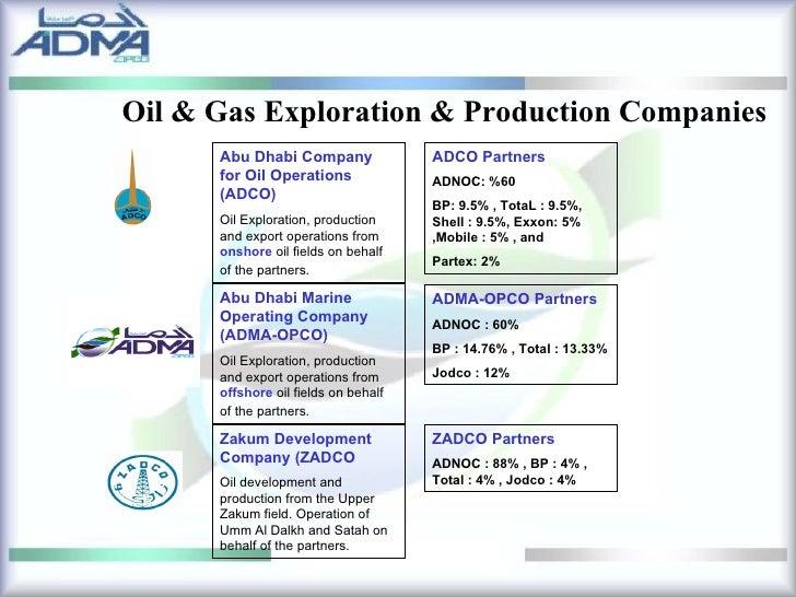 Gas Companies: Uae Oil And Gas Companies