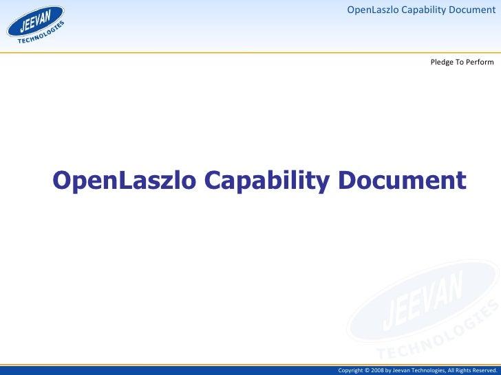 OpenLaszlo Capability Document