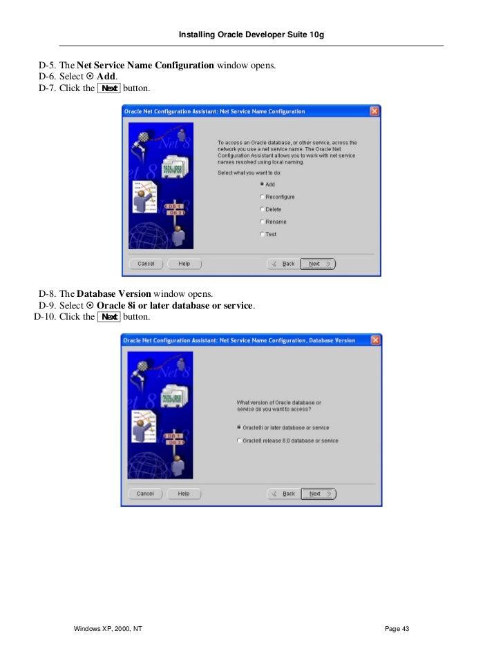 Oracle 10g Installation