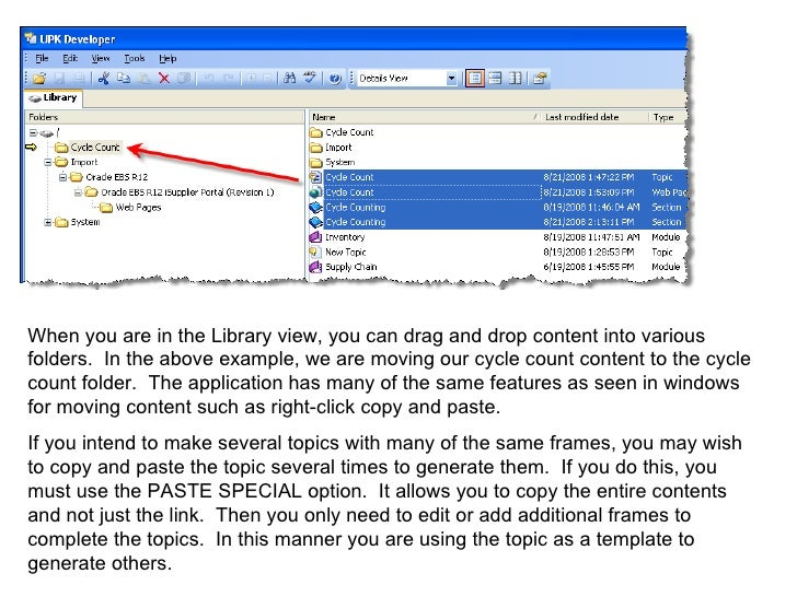 Oracle User Productiviy Kit