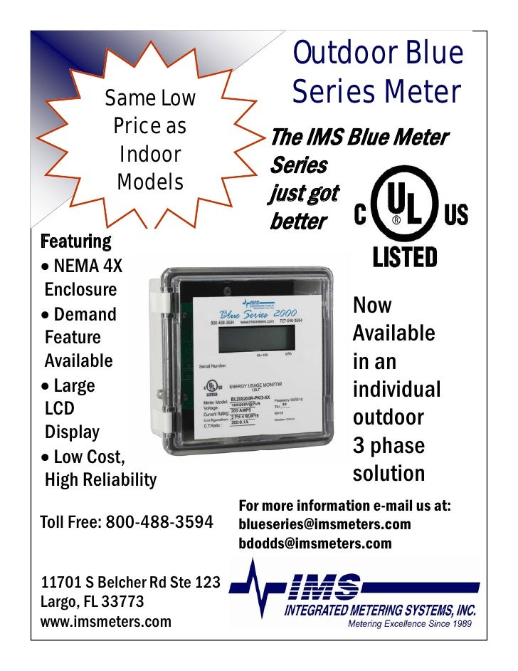 Outdoor Blue                                      Series Meter          Same Low           Price as               The IMS ...