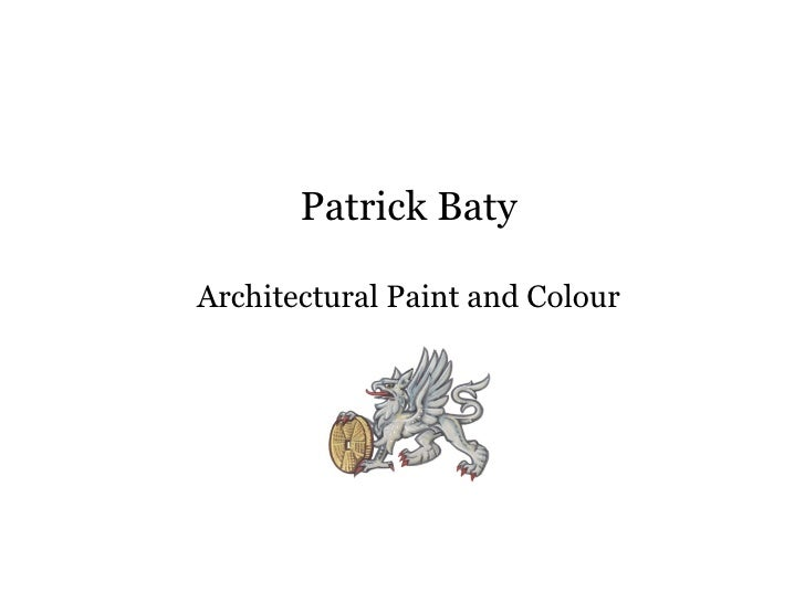 Patrick Baty Architectural Paint and Colour