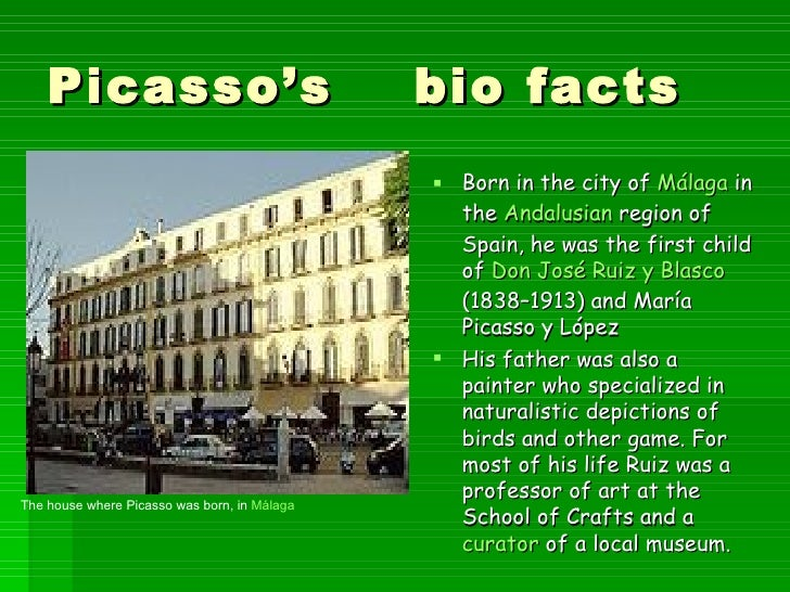 the life artistic achievements and influence of pablo ruiz picasso Home → sparknotes → biography study guides → pablo picasso 1881: ablo ruiz picasso born in málaga photographs of picasso in paris appear in life.