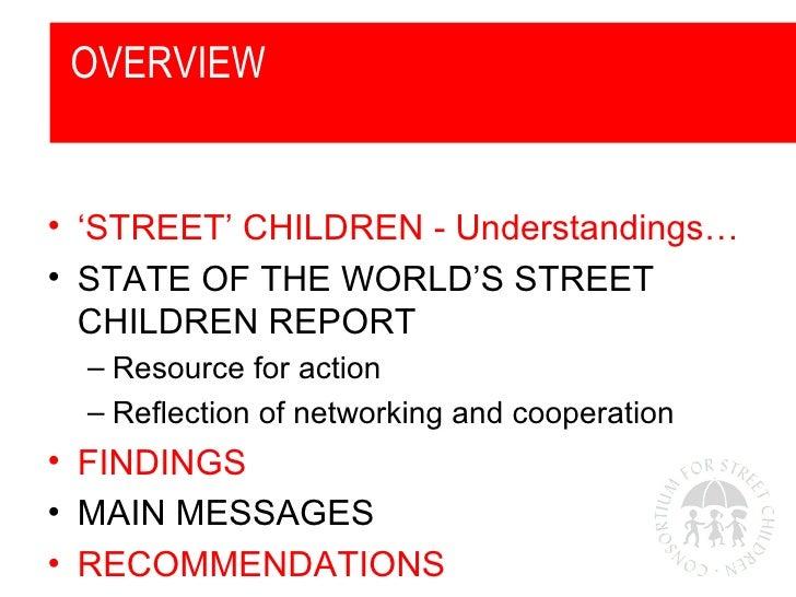 State of the World's Street Children: Violence Report Slide 2