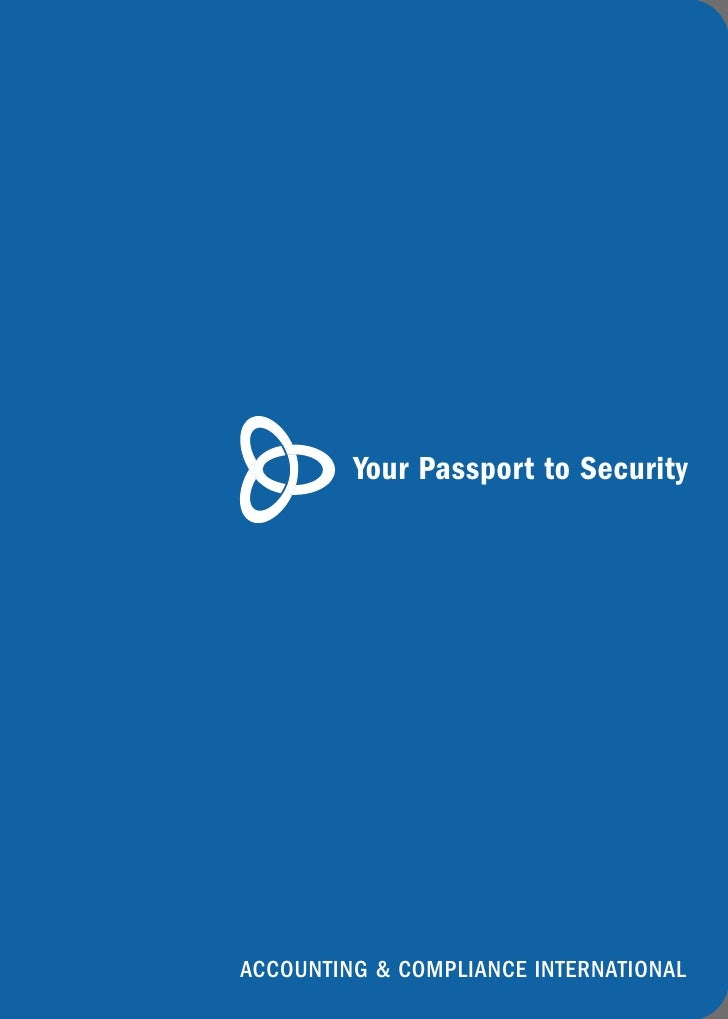 Your Passport to Security     ACCOUNTING & COMPLIANCE INTERNATIONAL