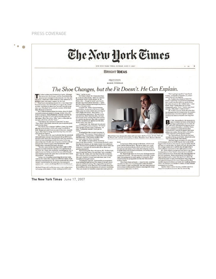 Press coverage     The New York Times June 17, 2007