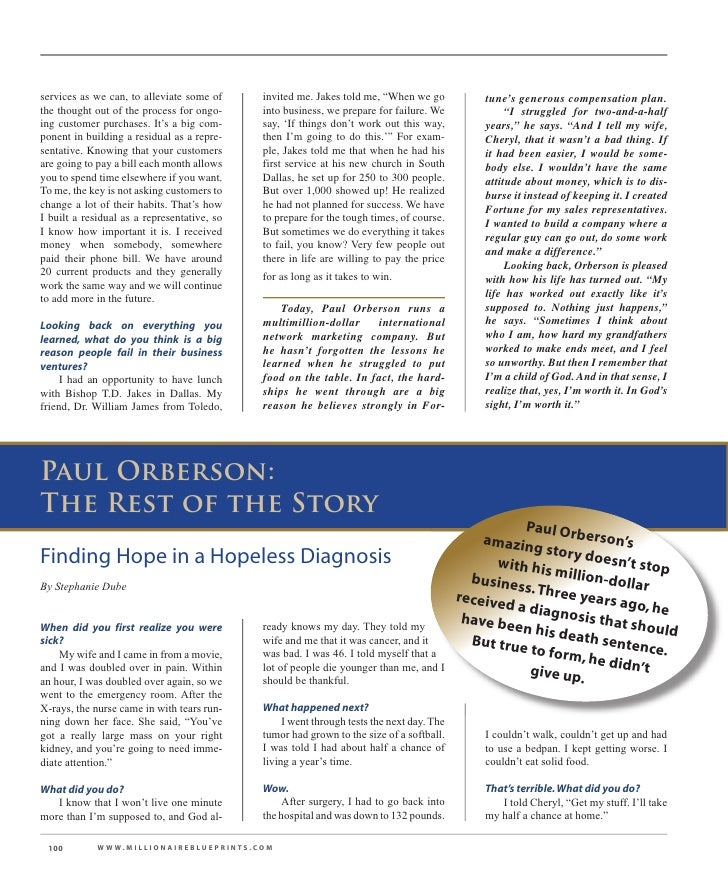 Paul orberson story millionaire blueprint 10 services malvernweather Images