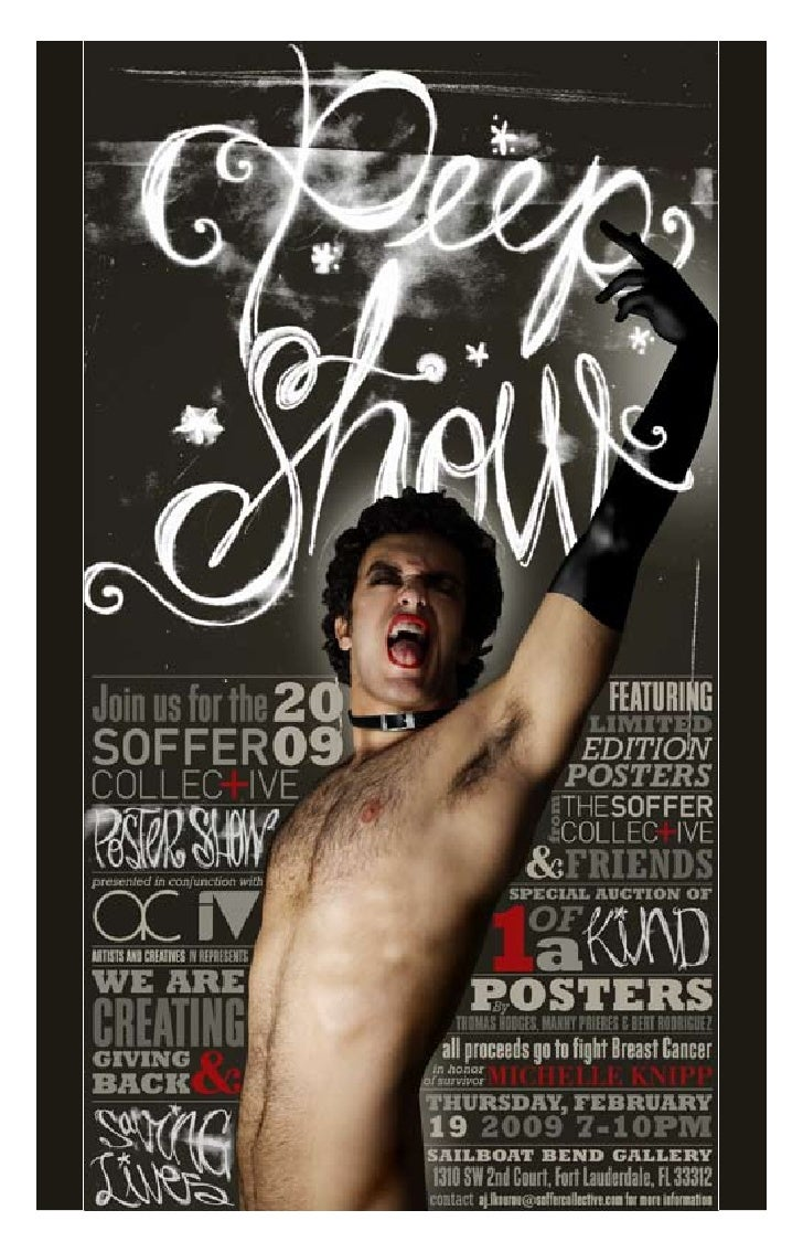 STILL STANDING  Welcome to PEEP SHOW,  our Annual Charity Poster Show.   No, really, we mean WELCOME.    In one of the mos...