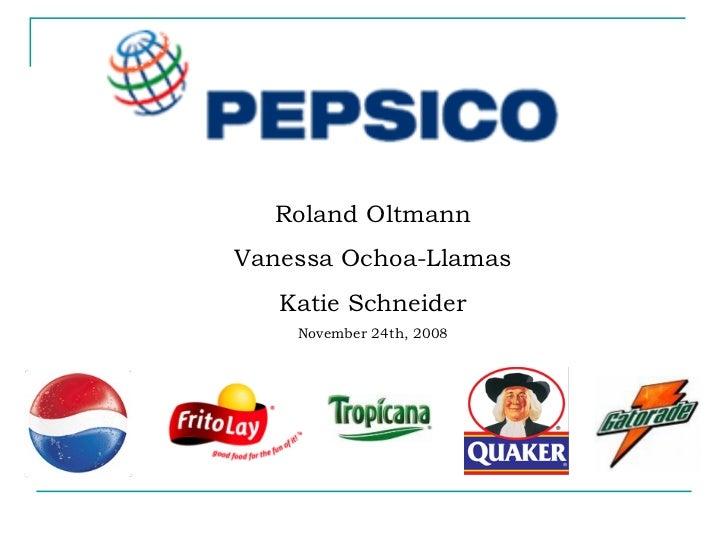Roland Oltmann Vanessa Ochoa-Llamas Katie Schneider November 24th, 2008