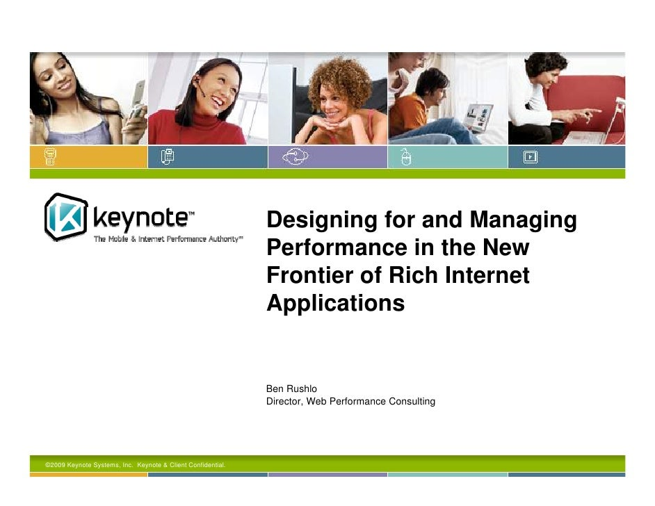 Designing for and Managing                                                              Performance in the New            ...