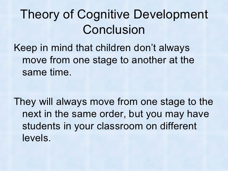an introduction to piagets theory of cognitive development Piaget's theory of cognitive development is a broad theory about the nature and development of human intelligence although it is commonly known as a developmental stage theory, it also engages with the nature of knowledge itself and how individuals get to acquire, construct, and use the knowledge obtained.