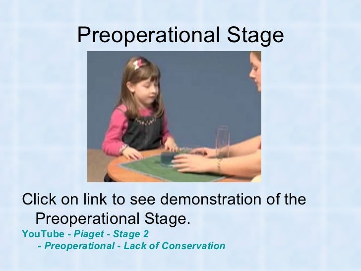 preoperational piaget