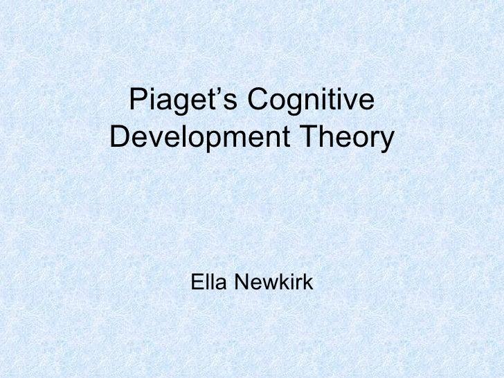 Piaget's Cognitive Development Theory Ella Newkirk