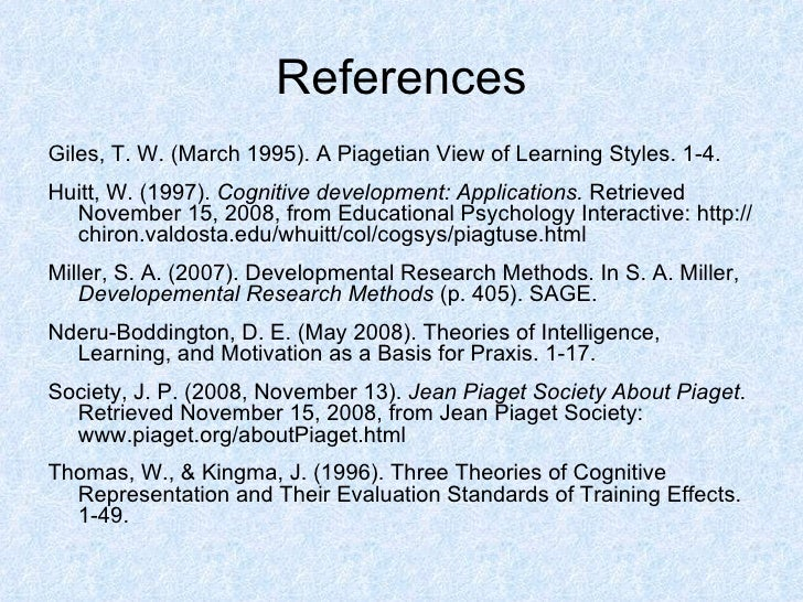 what was the conclusion about the piaget s cognitive theory Free essay: jean piaget (1896-1980) was a swiss psychologist who had a lifelong interest in how individuals, especially children, use cognitive development.