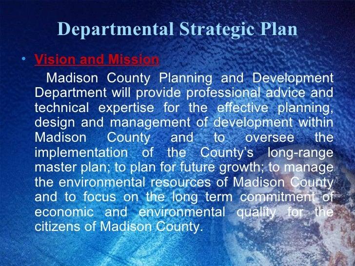 Planning And Development Department Strategic Operational Plan
