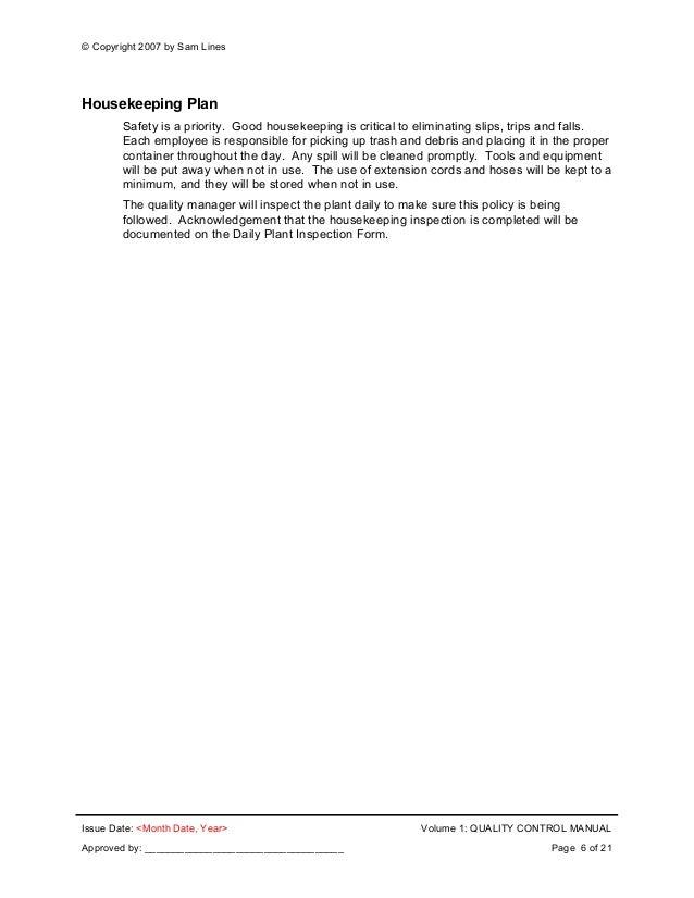 Precast Plant Quality System Documentation Set