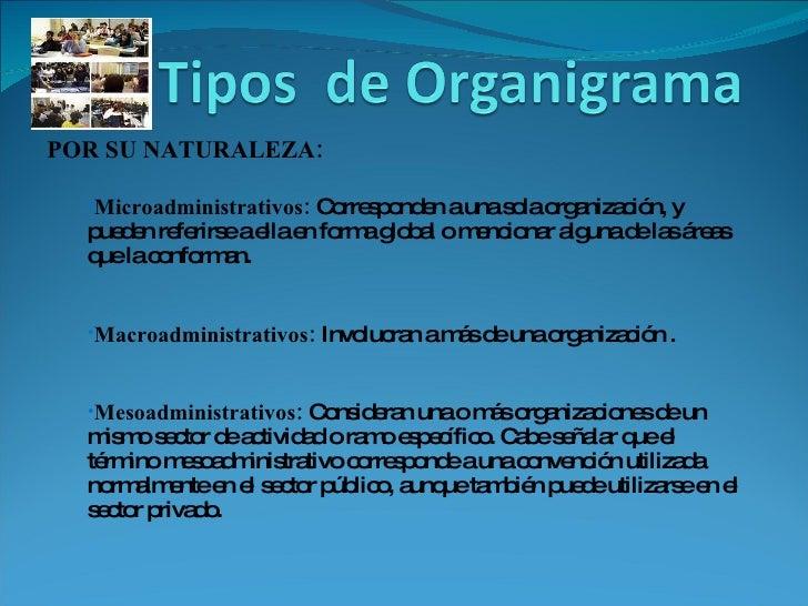 <ul><li>POR SU NATURALEZA:   </li></ul><ul><ul><li>Microadministrativos:  Corresponden a una sola organización, y pueden r...