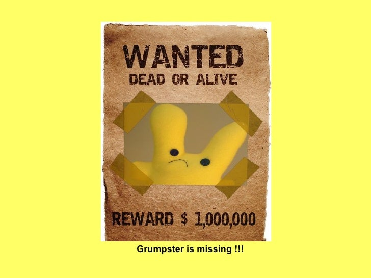 Grumpster is missing !!!
