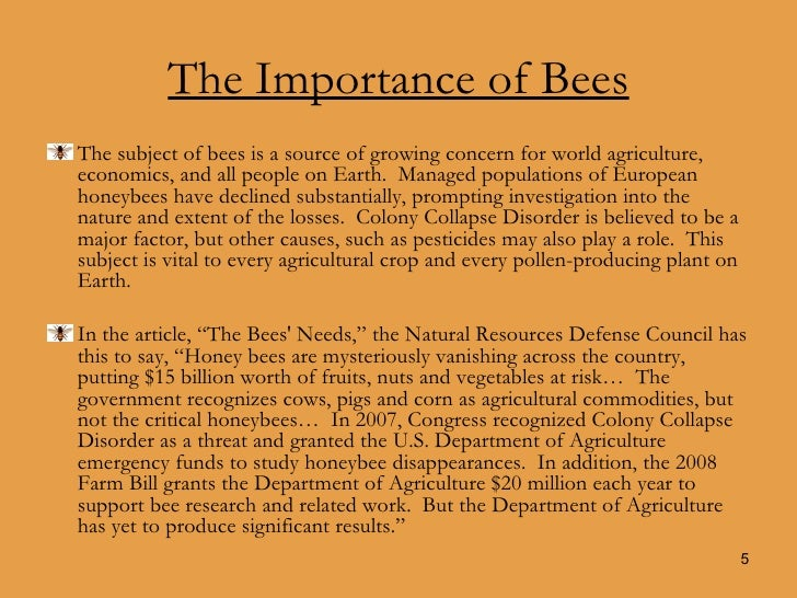 the importance of bees City of miami springs 201 westward drive miami springs, fl 33166 (305)805-5000.