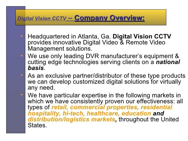 Digital Vision Presentation