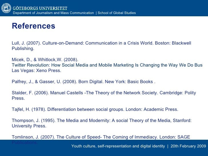 manuel castells the theory of the network society pdf
