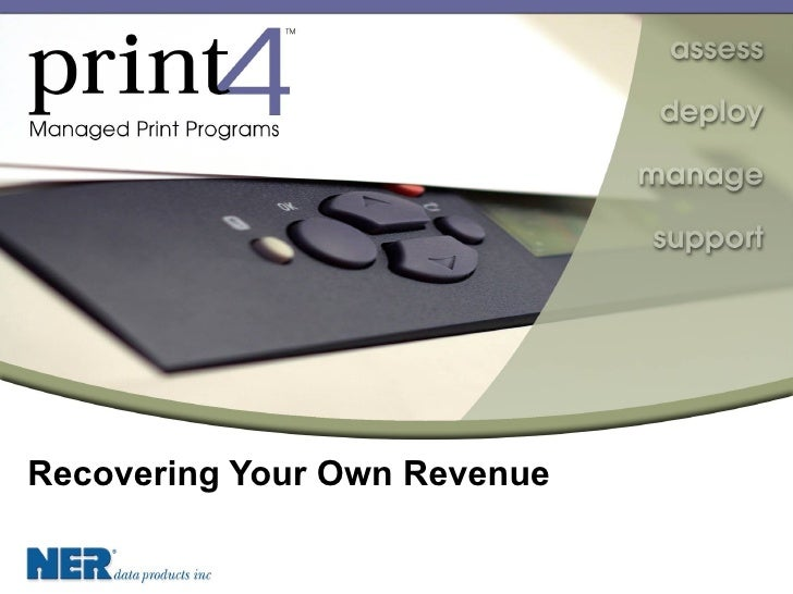 Recovering Your Own Revenue
