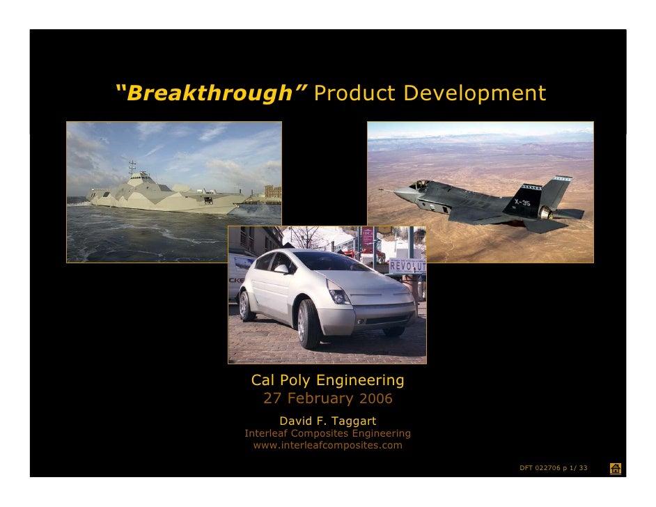 Breakthrough Product Development