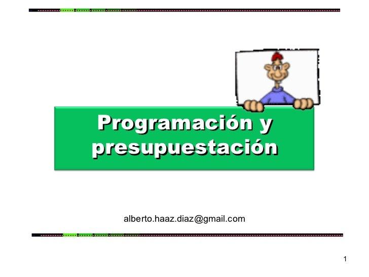 [email_address] Programación y presupuestación