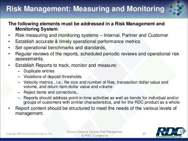 Remote Deposit Capture Risk Management Amp Ffiec Complaince