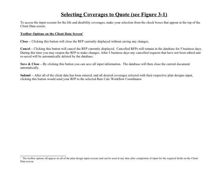 RFP Database User Manual for Sales