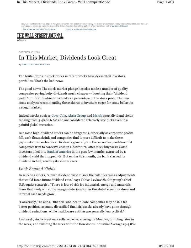 In This Market, Dividends Look Great - WSJ.com#printMode                                                                  ...