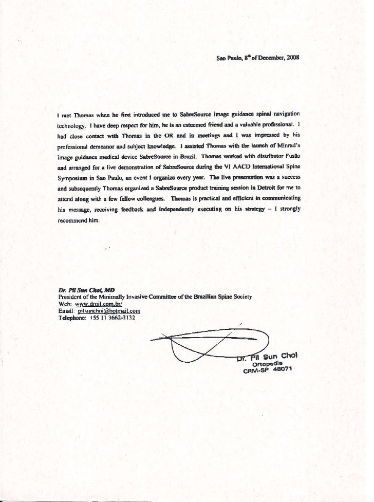doctor recommendation letter
