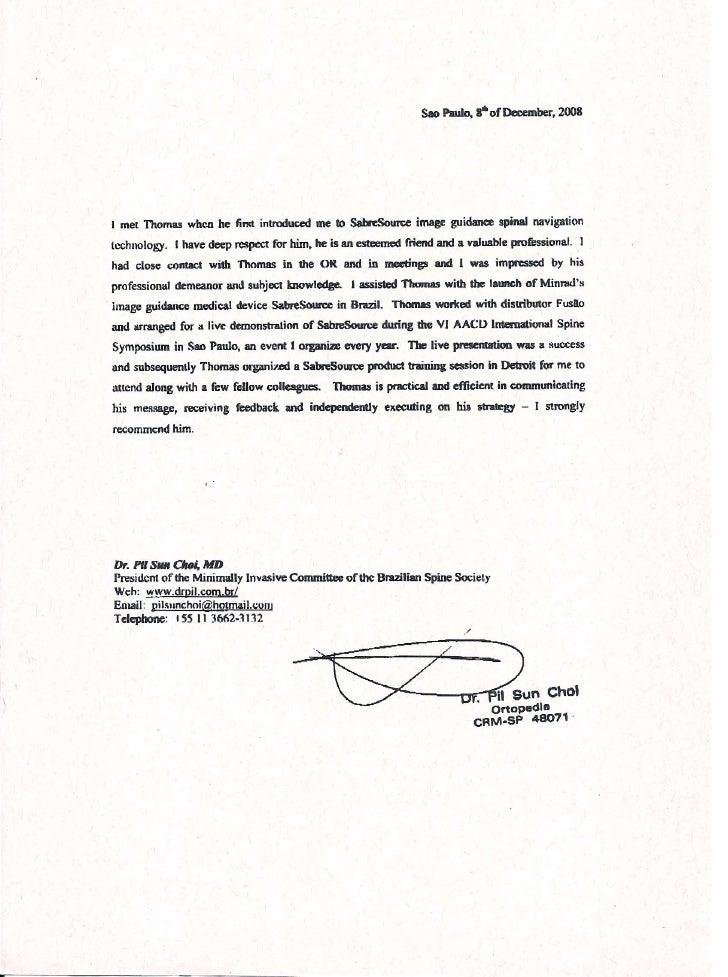 recommendation letter dr pil sun choi