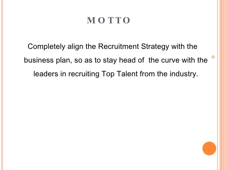 recruiting strategy plan