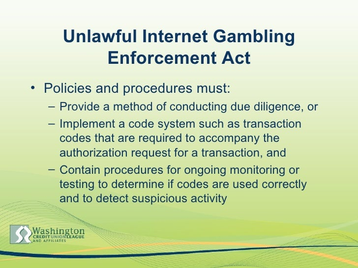 Unlawful internet gambling enforcement act summary coupons for horseshoe casino