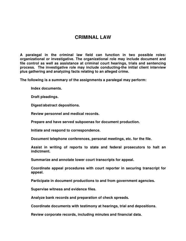 Responsibilities Of The Professional Paralegal