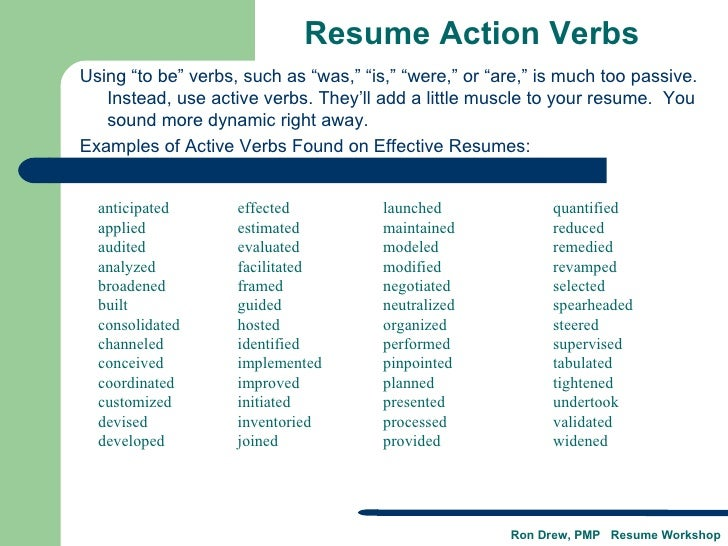 examples of action verbs for resumes Resume action verbs accomplished achieved administered advised analyzed arranged assessed authored compiled conducted constructed coordinated corresponded.