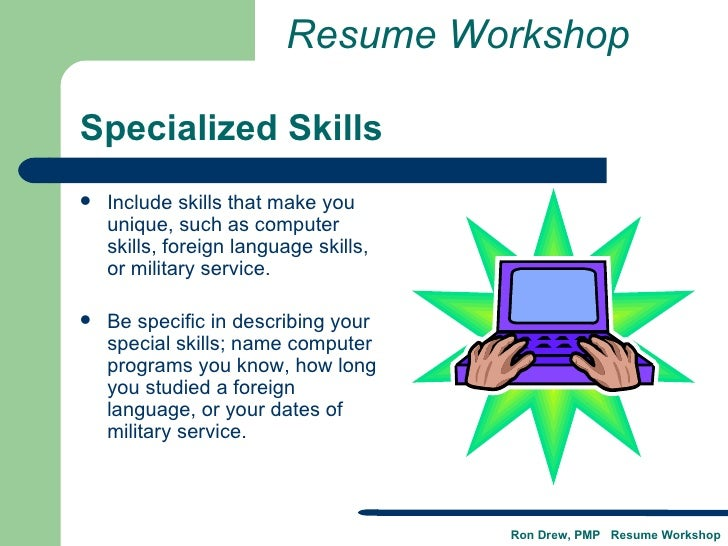 U003c/liu003eu003c/ulu003eResume Workshop; 21. Specialized Skills ...  Skills To Include On Your Resume