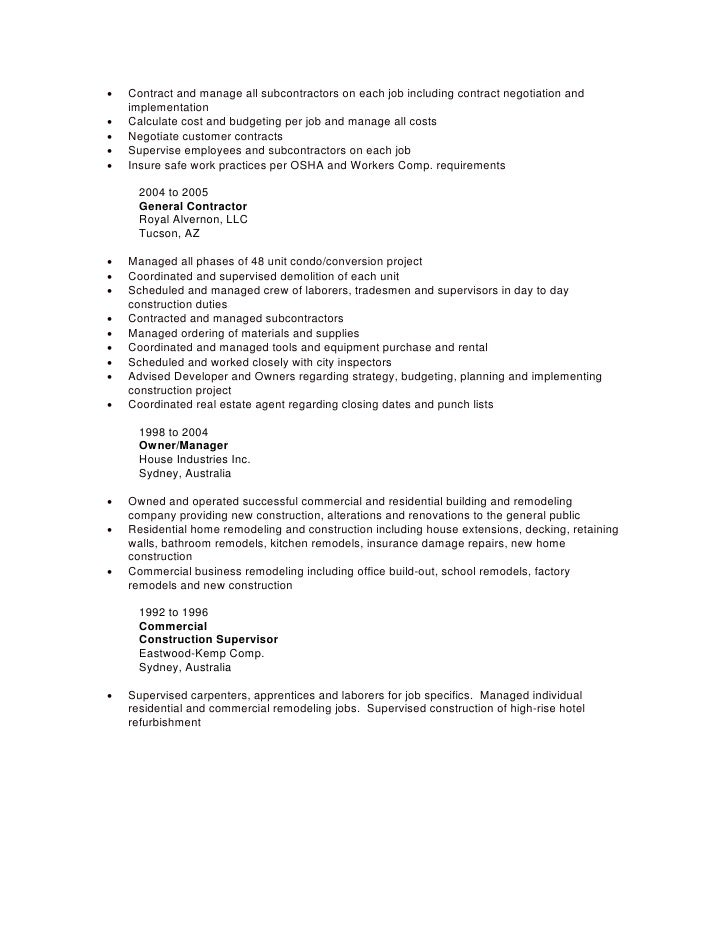 Putting Contract Work On Resume - Contegri.com