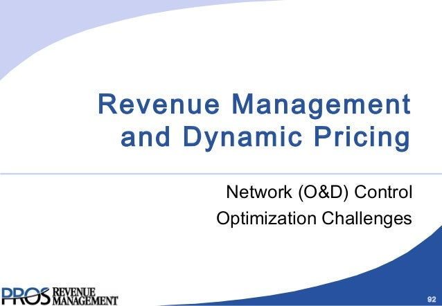 revenue management and pricing essay The airline industry has long been recognized as the leader in dynamic pricing atpco is leading the discussion on what dynamic pricing means and working with carriers to define future.