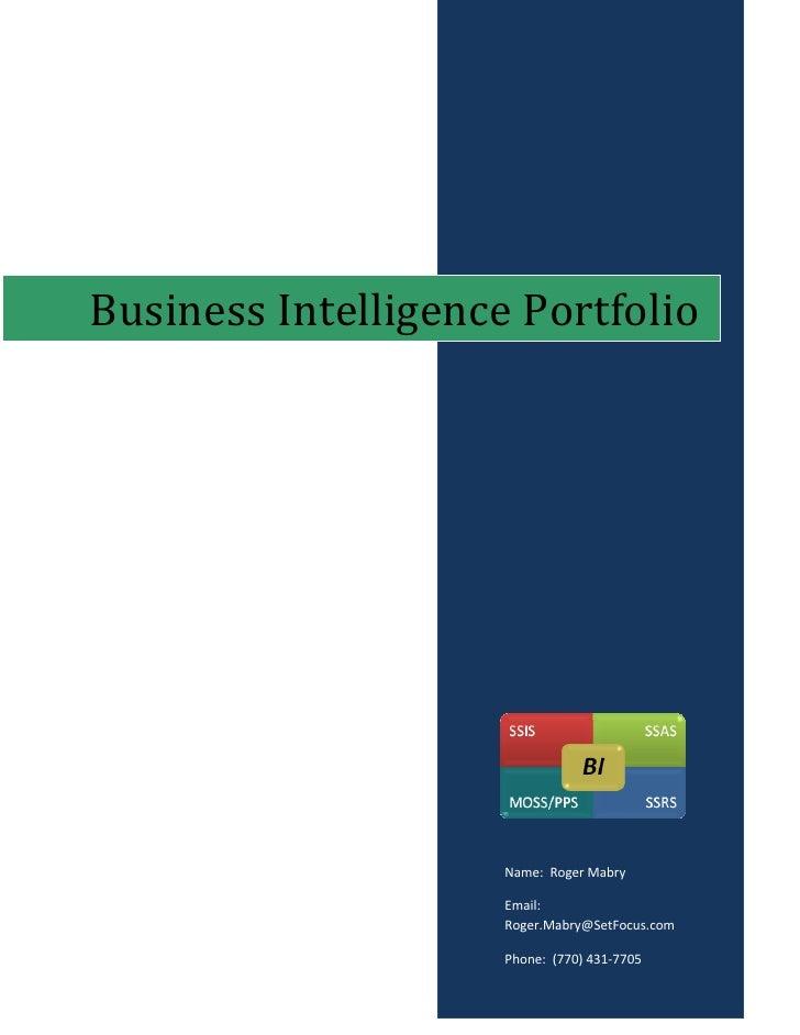 BusinessIntelligencePortfolio                              Name:RogerMabry                           Emai...