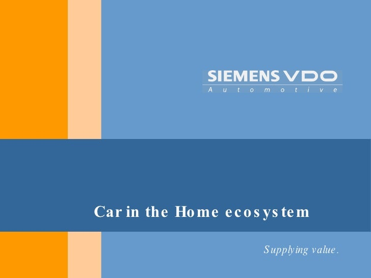 Car in the Home ecosystem