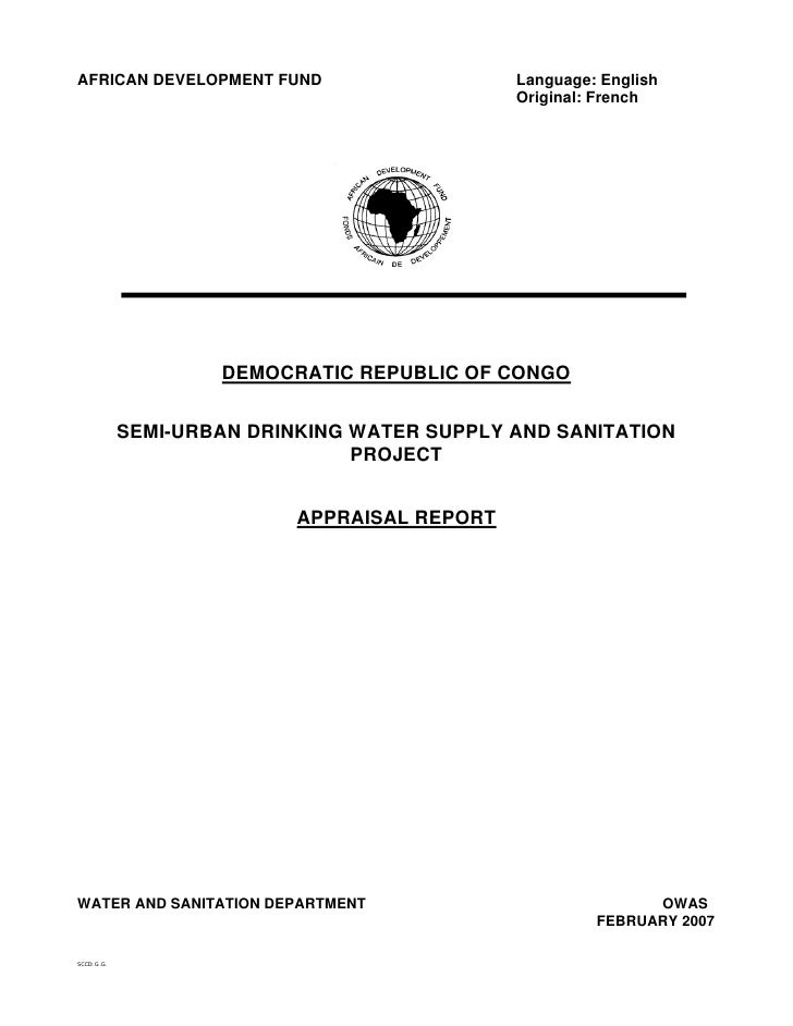 AFRICAN DEVELOPMENT FUND                        Language: English                                                 Original...