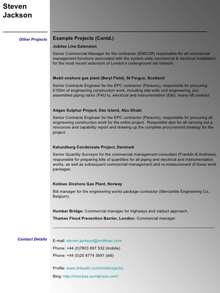 Stunning Commercial Manager Resume Scotland Contemporary - Best ...